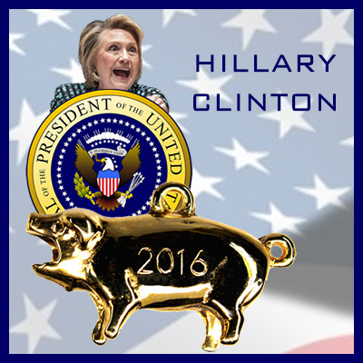 Hillary Clinton Political Pig Stanhope Charm