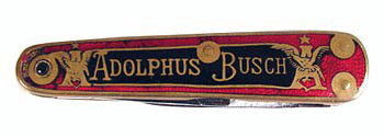 Anheuser_Busch Ladies Knife with Stanhope Lens showing Adolphus Busch